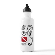 Cute Shark scuba Water Bottle