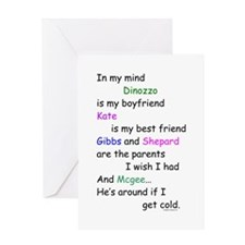 Dinozzo Boyfriend Kate Greeting Card