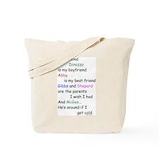 Dinozzo Boyfriend Abby Tote Bag
