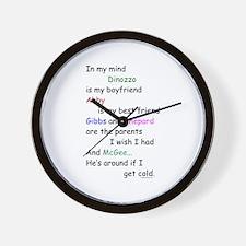 Dinozzo Boyfriend Abby Wall Clock
