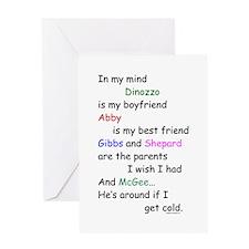 Dinozzo Boyfriend Abby Greeting Card