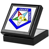 Deputy grand matron eastern star Square Keepsake Boxes