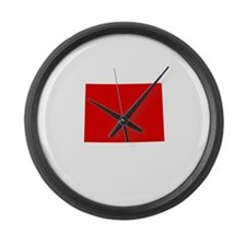 Red Colorado Large Wall Clock