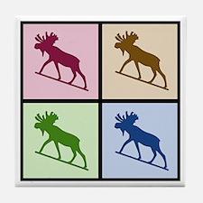 Moose (4 color) Tile Coaster