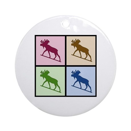 Moose (4 color) Ornament (Round)
