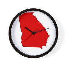 Red Georgia Wall Clock
