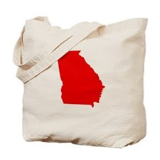 Red Georgia Tote Bag
