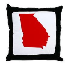Red Georgia Throw Pillow