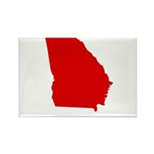 Red Georgia Rectangle Magnet (100 pack)
