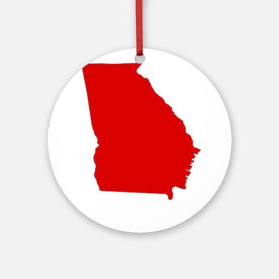 Red Georgia Ornament (Round)