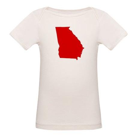 Red Georgia Organic Baby T-Shirt