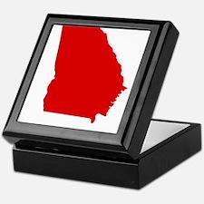 Red Georgia Keepsake Box