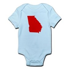 Red Georgia Infant Bodysuit