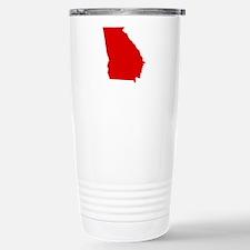 Red Georgia Stainless Steel Travel Mug