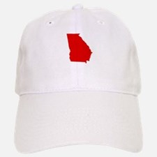 Red Georgia Baseball Baseball Cap