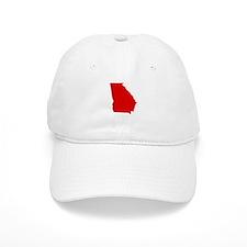 Red Georgia Baseball Cap