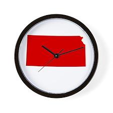 Red Kansas Wall Clock