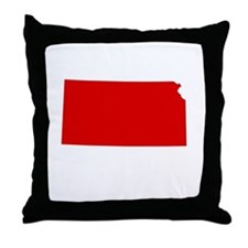 Red Kansas Throw Pillow
