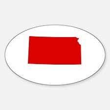 Red Kansas Decal