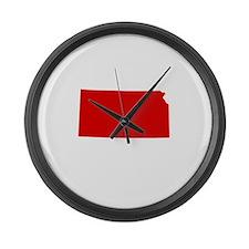Red Kansas Large Wall Clock