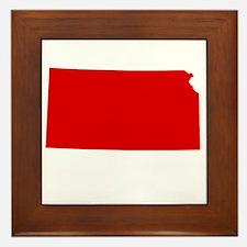 Red Kansas Framed Tile
