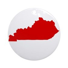 Red Kentucky Ornament (Round)