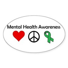 love, peace, awareness Decal