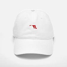 Red Maryland Baseball Baseball Cap