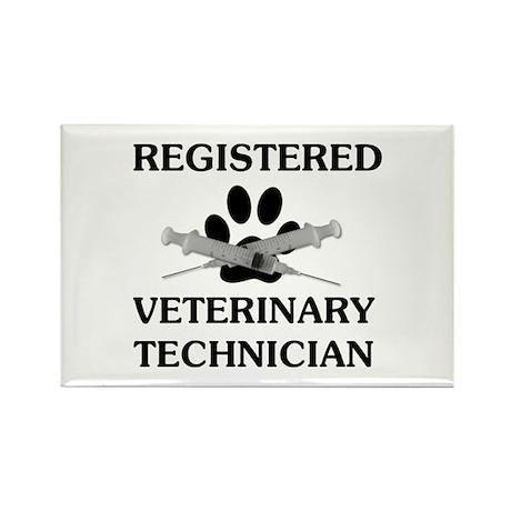 Registered Veterinary Tech Rectangle Magnet (100 p