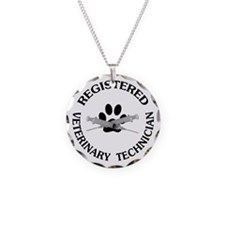 Registered Veterinary Tech Necklace Circle Charm