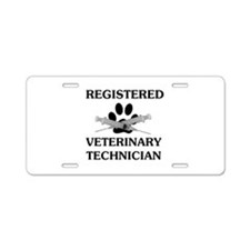 Registered Veterinary Tech Aluminum License Plate