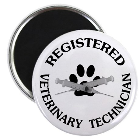 "Registered Veterinary Tech 2.25"" Magnet (10 pack)"