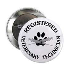 "Registered Veterinary Tech 2.25"" Button"