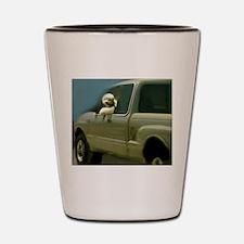 Go, Dog, Go! Shot Glass