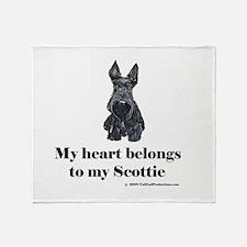 My Scottie Heart Throw Blanket