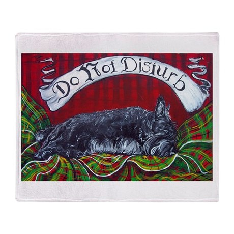 Scottish Terrier Sleeping Throw Blanket