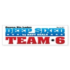 Osama Bin Laden Deep Sixed Bumper Sticker