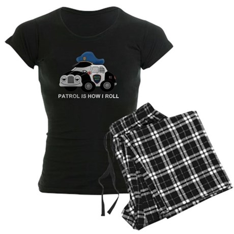 Police Car Women's Dark Pajamas