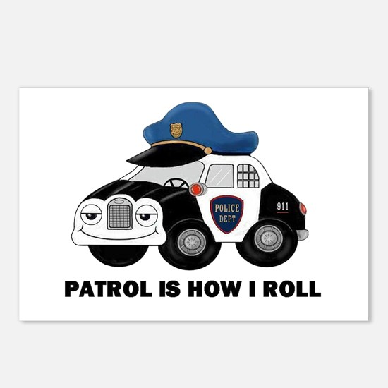 Police Car Postcards (Package of 8)