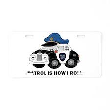 Police Car Aluminum License Plate