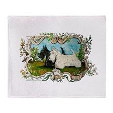 Pastoral Scottish Terriers Throw Blanket
