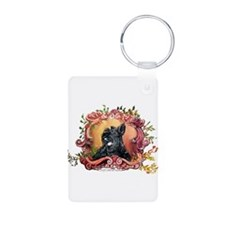 Laughing Scottish Terrier Keychains