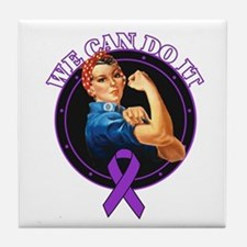 Epilepsy We Can Do It Tile Coaster