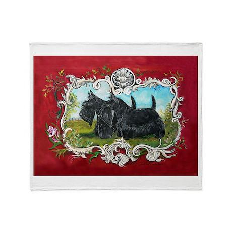 Vintage Scottish Terrier Throw Blanket