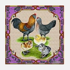 Ameraucana Family Framed Tile Coaster