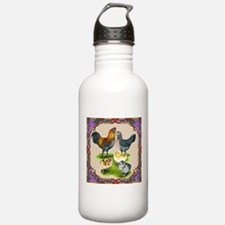 Ameraucana Family Framed Water Bottle