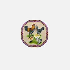 Ameraucana Family Framed Mini Button