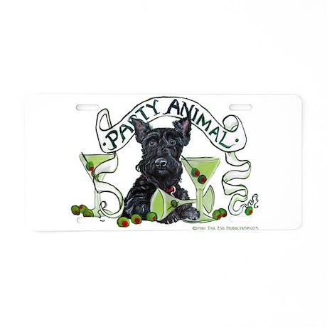 Scottish Terrier Martinis Aluminum License Plate
