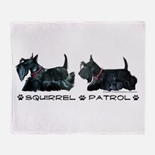 Scottie Squirrel Patrol Terri Throw Blanket