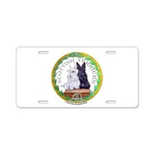 Scottish Terrier Crest Aluminum License Plate